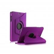 Pixnor Funda Cubierta Para Samsung Galaxy Tab A 8.0 Cuero De La PU 360 ° Que Gira La Cubierta Del Caso Del Soporte Para La Lengüeta De La Galaxia De Samsung Una Tableta De 8 Pulgadas SM-T350 (púrpura)