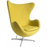Design Town Musztardowy Fotel JAJO Inspirowany Projektem Egg Chair