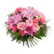 Ramo variado con rosas y lilium - Flores a Domicilio