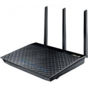 БЕЗЖИЧЕН РУТЕР ASUS RT-AC66U, ДВУБАНДОВ AC1750, 450+1300 MBPS,2 X USB 2.0, GIGABIT, ASUS-RT-AC66U