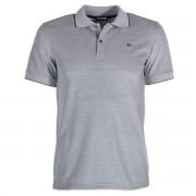 Pentru bărbaţi jumătate tricou Willsoor (dimensiune XXXL - 5XL) 6444 în gri culoare cu scurt maneca