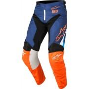 Alpinestars Pantaloni Moto Cross 2018 Racer Supermatic Dark Blue Orange Fluo Aqua