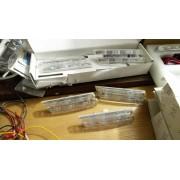 SVENDITA 5 frecce laterali LED M Power cromate per BMW Serie 1 E82 E88, Serie 3 E46 E90 E91 E92 E93, Serie 5 E60 E61, Serie 7 E65 E66, X3 E83, X5 E53