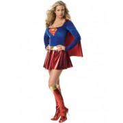 Vegaoo Sexy Supergirl-Kostüm Deluxe für Damen