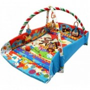 Saltea de Joaca cu Protectii Laterale Happy Baby - Candy Pop