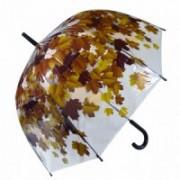 Deštník dámský vystřelovací podzim hnědý 9160-4 9160-4