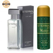 Eternal Love Eau De Parfum Men 120ml + Eternal Love Body Spray Xlouis Men 200ml