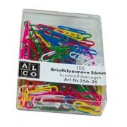 Agrafe colorate 26 mm, 100/cutie, ALCO - asortate
