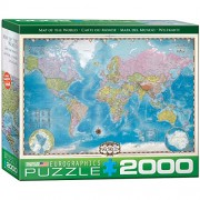 Euro Graphics Map Of The World Puzzle (2000 Piece)