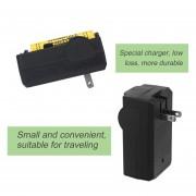 EB US Plug 18650 Cargador De Batería De Litio De Viaje De Pared Inicio Cargador 110-240V - Negro