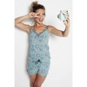 Pijama dama Circles albastru XL