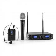 Malone Duett Pro V3 Juego de micrófonos inalámbricos UHF de 2 canales alcance de 50 m (BR4-Duett-Pro-V3)