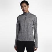 Haut de runningà manches longues demi-zippé Nike Dri-FIT Element pour Femme - Gris