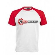 RACETOOLS T-shirt RACETOOLS Blanc / Rouge - Taille - XXL