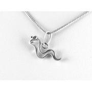 Barátságos kígyó ezüst medál