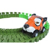 Wild Republic Tiger, Gifts for Kids Toy Car, Flexi Track (61 Piece)
