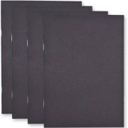 A5 Sketchbooks - 4 sketch books, each with 20 pages of cartridge paper (140gsm). Black card cover. Size 210mm x 148mm.