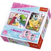 Puzzle Trefl 2 in 1 memo - Alba ca zapada
