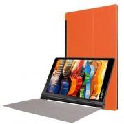 Notesz / mappa tok - oldalra nyíló flip cover, asztali tartó funkciós - NARANCS - Lenovo Yoga Tab 3 10 (YT3-X90F)