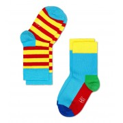 Happy Socks Sokken Kids Socks 2-Pack Geel