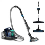 Прахосмукачка без торба, Philips PowerPro Active, 650W, PowerCyclone 7, Филтър против алергии, Turbo Brush (FC9556/09)