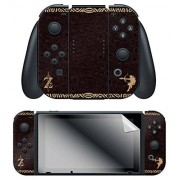 """Controller Gear Nintendo Switch Skin & Screen Protector Set, Officially Licensed by Nintendo -Zelda Breath of the Wild """"Link Tribal"""" Joy-Con Only Nintendo Switch;"""