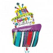 Balon folie Tort Happy Birthday