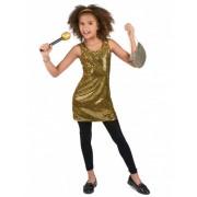 Disfraz disco dorado brillante niña 10-12 años (L)