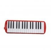 IRIN 001 32-sleutels accordeon melodica mondelinge piano kind student beginner muziekinstrumenten (rood)