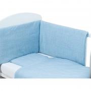 Bubaba set posteljine za krevetić 3 dijela plavo srce