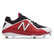 New Balance Low-Cut 4040v4 Metal Baseball Cleat Black with Red