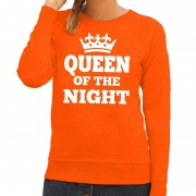 Bellatio Decorations Queen of the night sweater oranje dames XL -