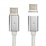 MicroUSB Type-C, Cablu De Date MAGNETIC (Charging Data), USB 3.0, Gray, Bulk