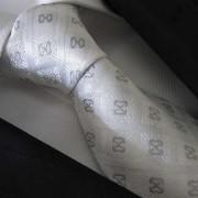 Distino Of Melbourne Checked Silk Necktie White 44