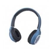 Astrum HT300 sztereó kék bluetooth 4.2 összecsukható fejhallgató beepitett mikrofonnal, bőr fülpárnákkal