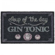 geschenkidee.ch Fussmatte Soup of the day - Gin Tonic