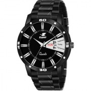 Espoir Analogue Stainless Steel Black Dial Day and Date Men's Boy's Watch - JacobStrom0507