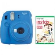 Fujifilm Aparat FUJIFILM Instax mini 9 Cobalt Niebieski + 10 Wkładów Filmowych