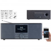 VR-Radio Digitales DAB+/FM-Stereo-Radio, Bluetooth & Wecker, 30 Watt, schwarz