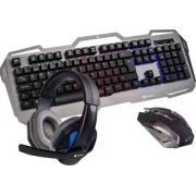 NGS GBX-1500 Juegos Bundle (Teclado y Raton y Headset), A