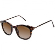 David Blake Brown Round Gradient Polarized UV Protected Sunglass