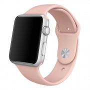 SERO Armband För Apple Watch I Silikon, 42/44mm, Rosa Sand