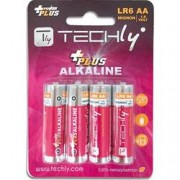 Techly Blister 4 Batterie Power Plus Stilo AA Alcaline LR06 1,5V
