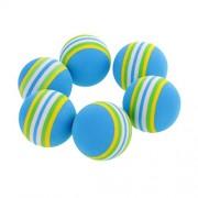 ELECTROPRIME 18 Pieces Sponge Golf Ball Golf Training Soft Balls Practice Ball 40mm