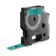 Dymo D1 DY45019 laminált feliratozószalag 12mm fekete/zöld