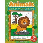 Animals Color by Number for Kids: 50 Animals Including Farm Animals, Jungle Animals, Woodland Animals and Sea Animals (Jumbo Coloring Activity Book fo, Paperback/Gameplay Publishing