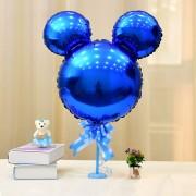 Balon Mickey Mouse în formă de cap, albastru metalizat