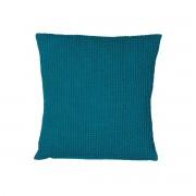 Miliboo Coussin en coton lavé bleu topaze 45 x 45 cm YAM