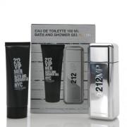 Carolina Herrera 212 VIP Men Мъжки Комплект - EdT 100 ml + душ гел 100 ml