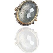 Inel din argint cu piatra cuart rutilat IN1774